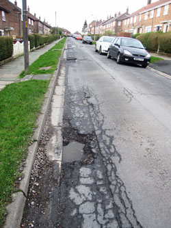 Gargrave Avenue potholes 1 small