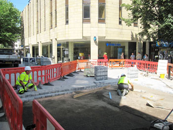 New paving in Bolton Town Centre small